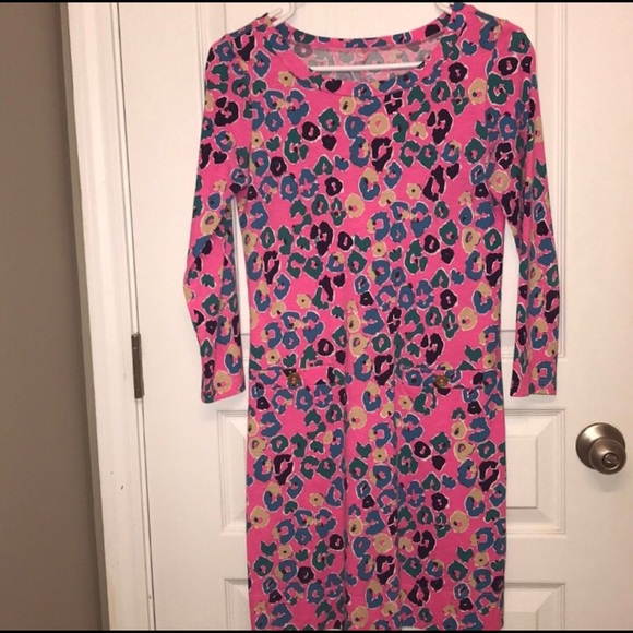 3af85c22a17 Lilly Pulitzer Dresses   Skirts - Lilly Pulitzer Pink Animal Print Dress XS
